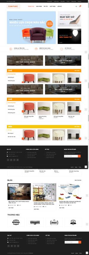 Mẫu giao diện website điện máy Funiture