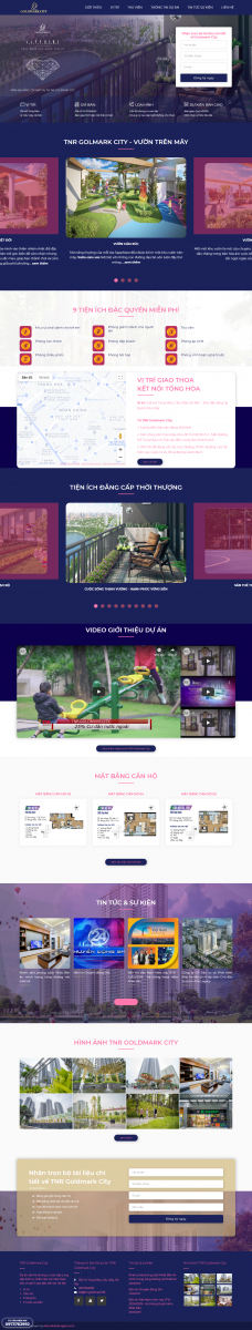 Mẫu thiết kế website bất động sản Goldmark City