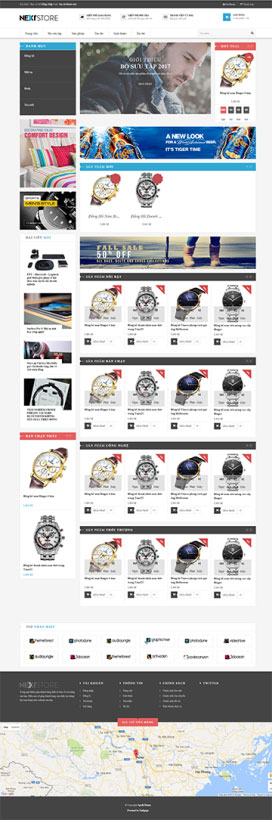 Mẫu giao diện website thời trang Next Store