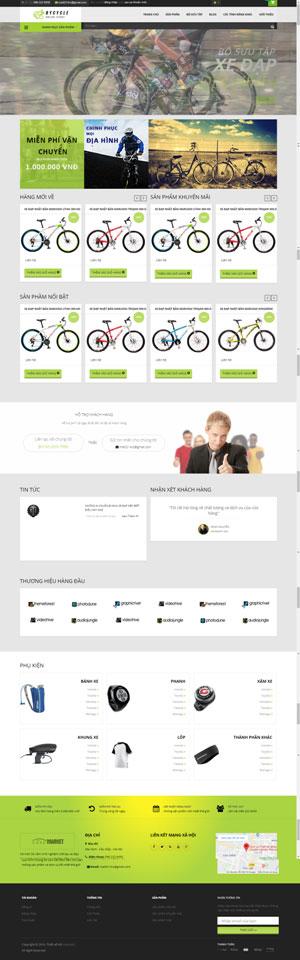 Mẫu giao diện website bán xe đạp Bycycle